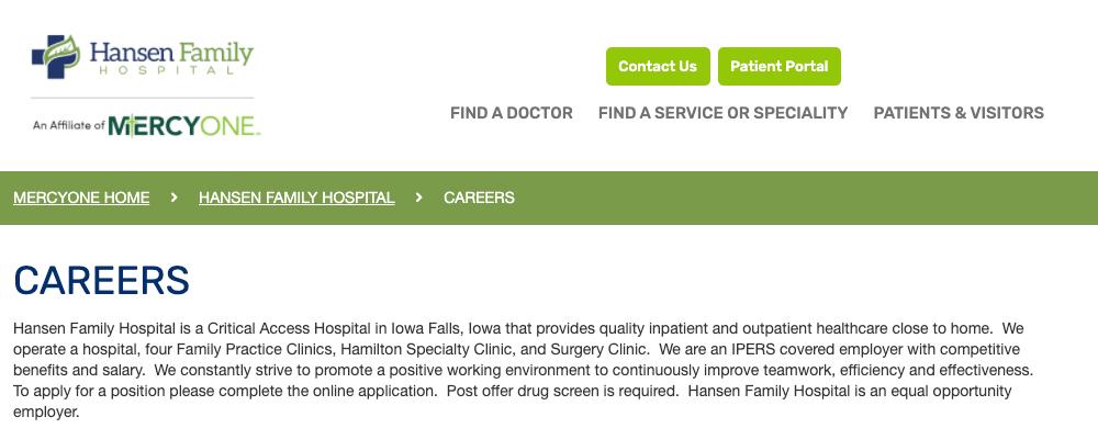 Rn, Obstetricsmed Surges - Iowa Falls, Ia - Hansen -9992